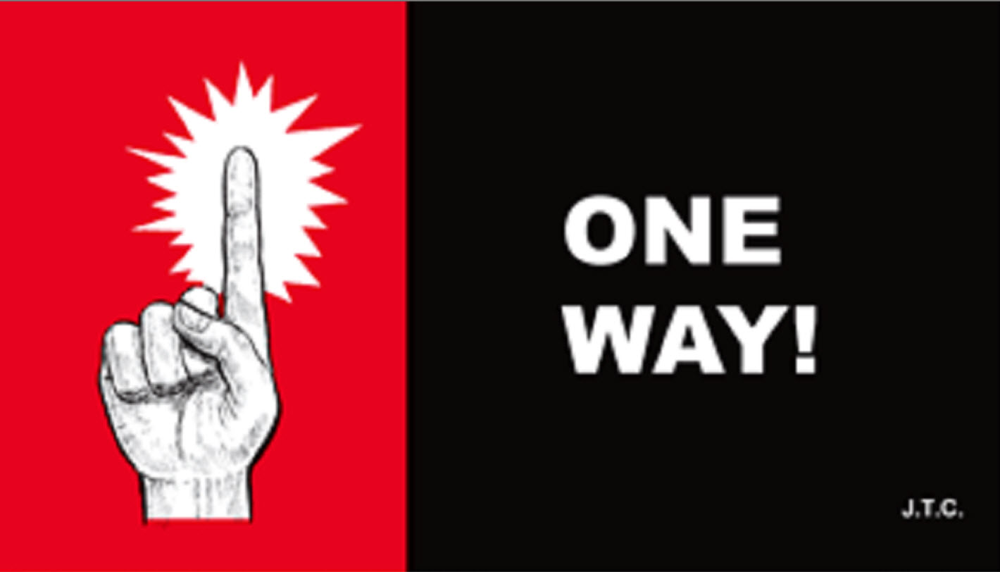 ONE WAY!